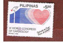 FILIPPINE (PHILIPPINES) - SG 2197 -  1990 WORLD CARDIOLOGY CONGRESS - USED ° - Filippine