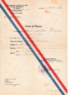 1946 - INNSBRUCK - Zone Française D'OCCUPATION En AUTRICHE - ORDRE DE MISSION - - Historische Documenten