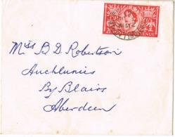 33975. Carta CRAIGELLACHIE (Moray) Scotland  1953 To Blairs - Covers & Documents