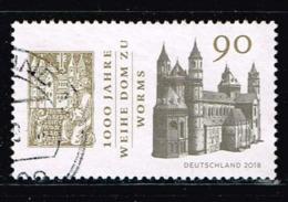 Bund 2018,Michel# 3394 O 1000 Jahre Weihe Dom Zu Worms - Gebraucht