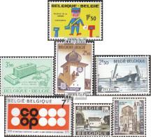Belgien 1585,1586,1593,1594, 1595,1596-1597 (kompl.Ausg.) Postfrisch 1970 Virton, Zelzate, Coop U.a. - Belgien
