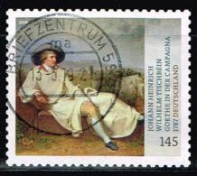 Bund 2018,Michel# 3397 O Schätze Aus Dt. Museen: Goethe In Der Campagne Selbsklebend - [7] Federal Republic
