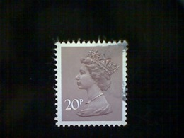 Great Britain, Scott #MH112, Used(o), 1980, Machin: Queen Elizabeth II, 20p, Deep Purple Brown - 1952-.... (Elizabeth II)