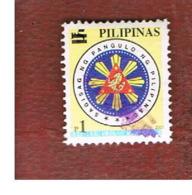 FILIPPINE (PHILIPPINES) - MI 3453  -  2003 PRESIDENTIAL SEALS (DATED 2001) OVERPRINTED 1 BLACK     - USED ° - Filippine