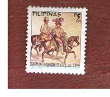 FILIPPINE (PHILIPPINES) - MI 3300II  -  2002 MALLAT DRAWINGS:TAGALOG FASHION PLATES   (DATED 2002)    - USED ° - Filippine