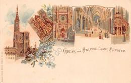 Cartolina Strassburger Munster Gruss Aus - Cartoline