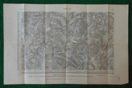 Carte Géographique De Type 1889 - Houdelaincourt - Pagny La Blanche Côté - Grand - Harchéchamp Et Environs - Cartes Géographiques
