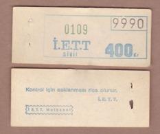AC -  VINTAGE TRAM, BUS TICKET FOR PUBLIC TRANSPORTATION ISTANBUL, TURKEY - Otros