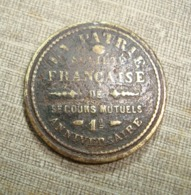 1888 RR URUGUAY FRANCE SOCIETE FRANCAISE DE SECOURS MUTUELS MONTEVIDEO 1º ANNIVERSARY - Otros