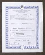 Associazione Sportiva Casale - Titolo Azionario - Una Azione - 1980 - Non Classificati