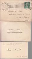 2 Cartes De Visite + Enveloppe - Jean AICARD De L'Académie Française - Cartes De Visite