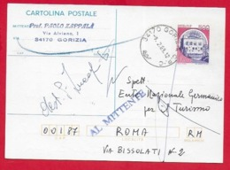 CARTOLINA POSTALE VG ITALIA - 1987 CASTELLI MONSELICE £ 500 U. CP 210 - 10 X 15 - 1988 GORIZIA - AL MITTENTE - F.D.C.