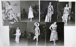 Lotto 7 Fotografie Sfilata Di Moda - Costumi Da Bagno - Anni '60 - Foto