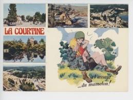 """La Courtine (Creuse) Militaria """"a L'assaut Du Mamelon"""" Entrée Camp, Char, Aérienne Lac Chateauvert, Bureau Intendance - Humour"""