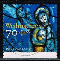 Bund 2018,Michel# 3422 O Weihnachten. Kirchenfenster, Selbstklebend - [7] Federal Republic