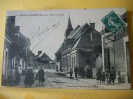 49 5794 RARE CPA 1910 - 49 MEIGNE LE VICOMTE. RUE PRINCIPALE. -BELLE ANIMATION. - Autres Communes