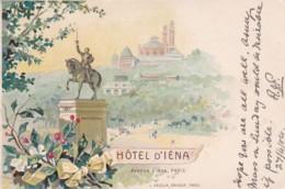 281088Paris, Hotel D'Iena 1904 (droite Inf. Pli) - Cafés, Hôtels, Restaurants