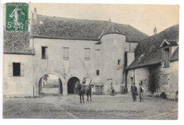 Cpa...Poissy...intérieur De La Ferme De Saint-louis....animée....1909.... - Fermes