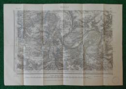 Carte Géographique De Type 1889 - Caudebec Lès Elbeuf - Écouis - Vironvay - Ailly - Villettes - Port Mort Et Environs - Cartes Géographiques