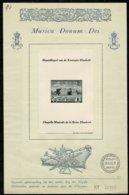 Belg. 1942 - FDC PR 48 Muziekkapel Kon. Elisabeth (ongetand) / Chapelle Musicale Reine Elisabeth (non Dentelé) - FDC