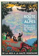 CPM/CPSM -  Route Des ALPES - Services Automobiles De Tourisme - De La Mer à La Haute - Francia