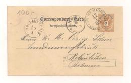 Ganzsache Correspondenz - Karte 2 Kreuzer - 17.1.1885 - Echt Gelaufen - Stamped Stationery