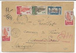 1917 - GABON - ENVELOPPE RECOMMANDEE De MAYUMBA => SENEGAL + CACHET MARITIME - Covers & Documents