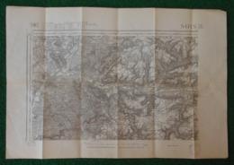 Carte Géographique De Type 1889 - Coudun - Audignicourt - Trosly Breuil - Forêt De Compiègne - Dommiers Et Environs - Cartes Géographiques