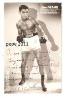 Carte Photo Ahmed SEBANE Boxeur Poids Welter - Ex Champion De France Amateur - Avec Autographe Original - Dédicace - Boxe