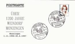 ALLEMAGNE - 1996 -  Monzingen - Über 1200 Jahre Weindorf Monzingen - BRD