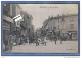 Carte Postale 42. Roanne  Rue De Mably  Trés Beau Plan Animé - Roanne