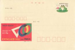 COREE - 2003 - Entier Postal Neuf - YMCA - Grenouille - Frogs