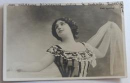 CPA Précurseur Artiste Reutlinger Tampon Lausanne 1904 Timbre Série Monna Vanna N°7 - Artistes