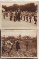 4 Photos Guerre 1914 1918 POINCARRE Visitant Les Troupes - 1914-18