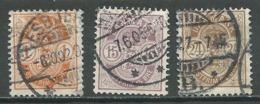 Danemark YT N°38/40 Oblitéré ° - 1864-04 (Christian IX)