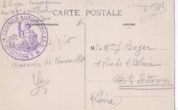 Cachet  Convoi Automobile 61ème Section T.M.sur Carte Postale De Chamouilley De 1916 - Marcophilie (Lettres)