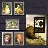 Haute-Volta 1983, Personnages Des Arts, Ballon John Wise, 615 / 619** + MI 892**, Cote 32 €, - Haute-Volta (1958-1984)