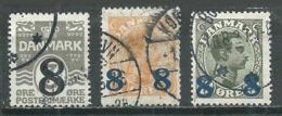 Danemark YT N°127/129 Oblitéré ° - 1913-47 (Christian X)