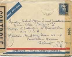 25f. Marianne De Gandon Gravé (Yvert N° 725)  Sur Enveloppe Censurée Por Les USA - 1945-54 Marianne De Gandon