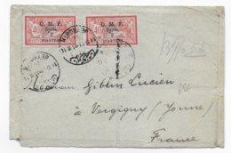 1921 - LIBAN - ENVELOPPE De BEYROUTH => VERGIGNY - MERSON - Liban