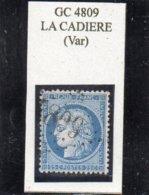 Var - N° 60A Obl GC 4809 La Cadière - 1871-1875 Cérès