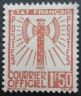 FRANCE Service N°8 Neuf Sans Gomme - Neufs