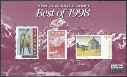 Neuseeland New Zealand 1999 Best Of 1998 Kunst Arts Mount Cook Berge Mountains Gemälde Paintings McIntyre, Bl. 85 ** - Nuova Zelanda