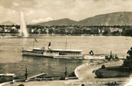 """Dampfer """"Geneve"""" In Genf,Feldpost Gelaufen - Paquebots"""