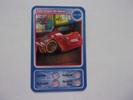 Carte Disney AUCHAN  Cars Flash Dragon Mc Queen Auto Carro Car Voiture - Autres Collections