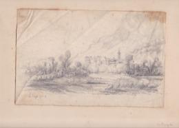 TRES BEAU DESSIN / HERAULT / LE POUJOL JUIN 55 / - Drawings