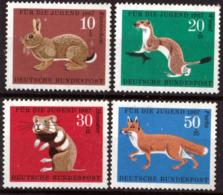 Allemagne - Timbres De 1967 Yvert 387 /390 Michel 529 / 532 XX Mamiféres De La Forêst - [7] République Fédérale