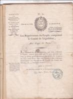 COMITE DE LEGISLATION / REPRESENTANTS DU PEUPLE / AN 3 / - Documents Historiques