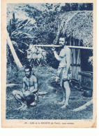 ILES DE LA SOCIETE  ILE TAHITI Types Tahitiens Maxi Carte  240x180     Mx37 - Tahiti