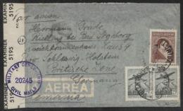 1946 ARGENTINA - To GERMANY BRITISH ZONE - CENSOR - MILITARY CENSORSHIP CIVIL MAIL - Briefe U. Dokumente